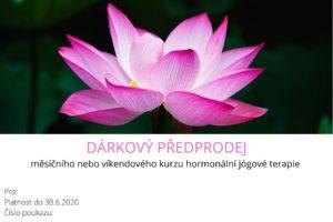 hormonální jóga Brno dárkový předprodej